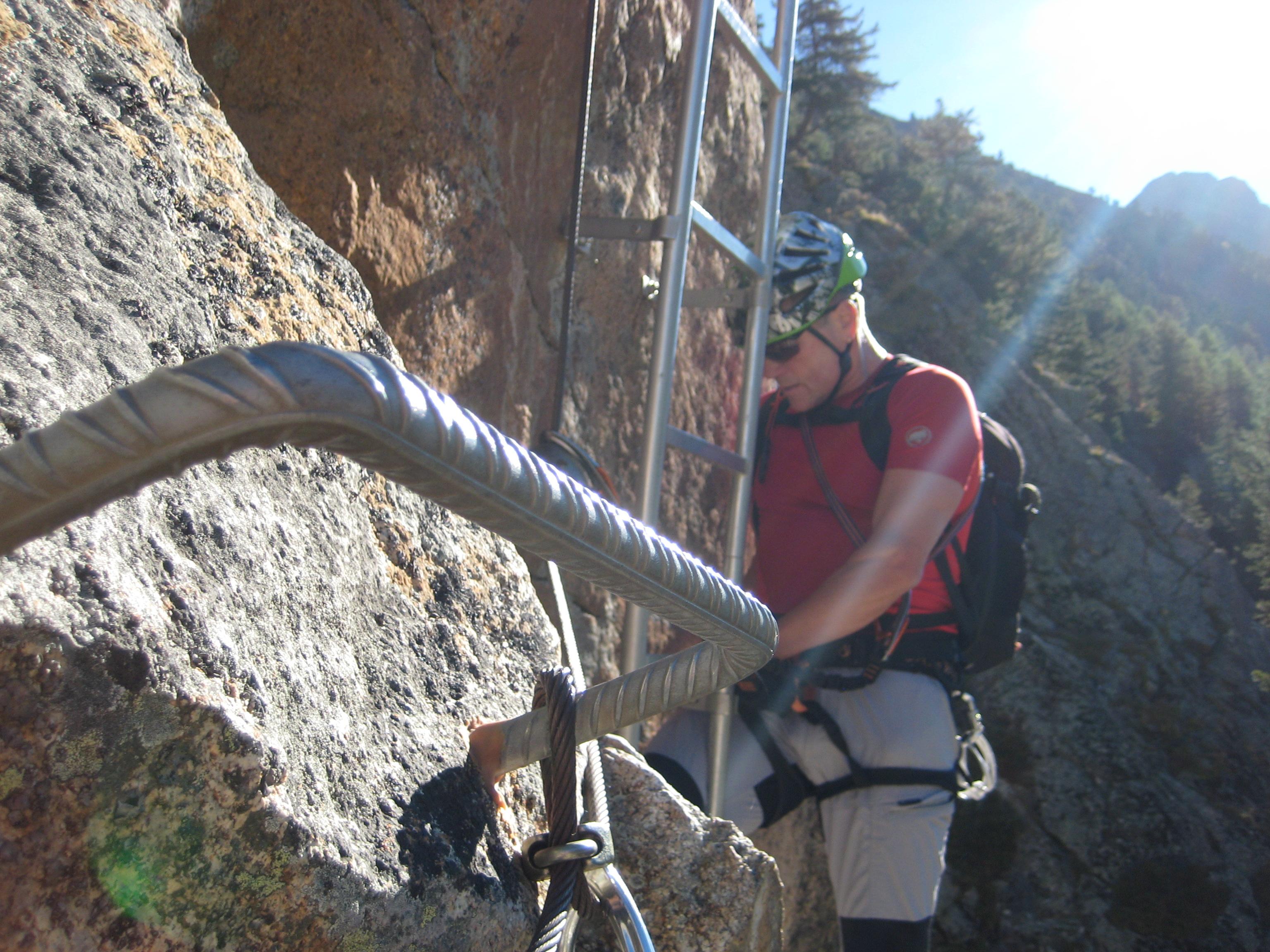 Klettersteig La Resgia : Klettersteig la resgia bergsteigen